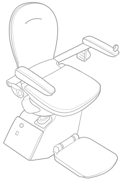 Line drawing of stairlift